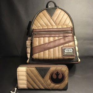 Loungefly x Star Wars Rey Mini Backpack and Wallet
